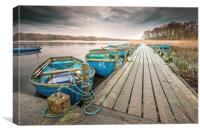 Boats moored to Jetty at Filby
