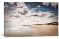 Beach and sky at Happisburgh, Canvas Print