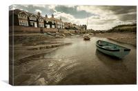 Low tide, Canvas Print