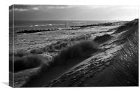 Horsey beach in December, Canvas Print
