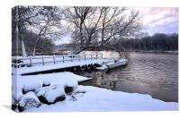 Ormesby Broad in the snow, Canvas Print