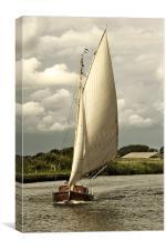 Sailing head on, Canvas Print