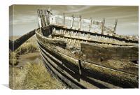 Rotting Boat, Canvas Print