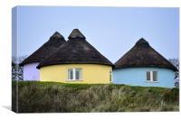 Thatched cottages, Canvas Print