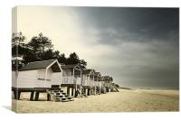 Beach Huts at Wells, Canvas Print