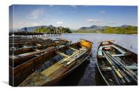 Boats on Derwent Water, Canvas Print