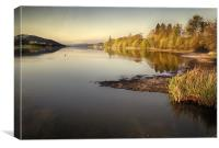 Coniston Water as the sun rises, Canvas Print