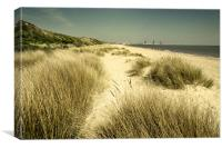 Hopton Beach looking towards Gorleston, Canvas Print