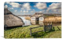 Boathouses at Hickling Broad, Canvas Print