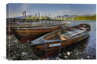 Rowing Boats on Derwent Water, Canvas Print
