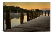 Jetty at Coniston Water, Canvas Print