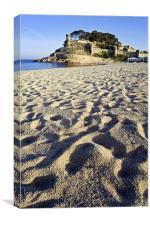 Castle at Tossa de Mar, Canvas Print