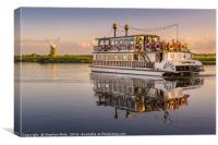 'Southern Comfort' Paddle Boat, Canvas Print