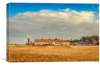 Cley Mill over the fields, Canvas Print