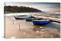 Boats on Ormesby Broad, Canvas Print