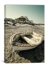 Rope round boat, Canvas Print