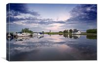 St Benets Mill on the River Thurne, Canvas Print