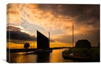 Wherry Albion sunset, Canvas Print
