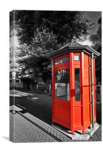 Christchurch Telephone Box, Canvas Print