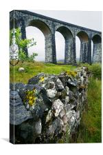 Ribblehead Viaduct and dry stone wall, Canvas Print