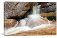 Small soft waterfall, Canvas Print