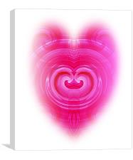 Pink Heart, Canvas Print