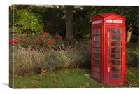 Phonebox & Roses, Canvas Print