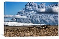 Eyjafjallajökull eruption, Canvas Print