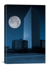 Tower in the night, Canvas Print