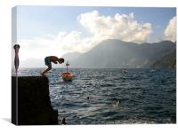 Boys playing on the Amalfi Coast