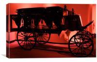 Funeral Cart, Canvas Print