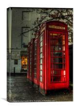 Red phone box Truro Cornwall