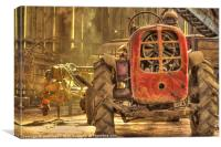 Red Tractor, Canvas Print