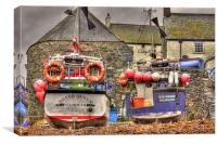 Falmouth boats, Canvas Print