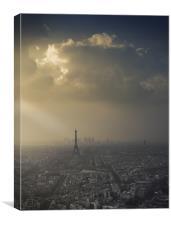 Eiffel Tower skyscape, Canvas Print
