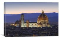 Florence by night, Canvas Print