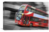 Big Red London Bus, Canvas Print