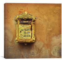 French post box, Canvas Print