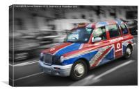 Flag down a taxi, Canvas Print