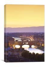 Ponte Vecchio, Florence, Canvas Print