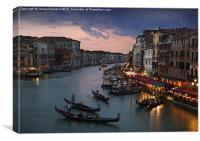 View from Rialto Bridge, Venice, Canvas Print