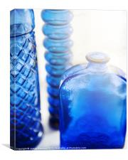 Blue Glass, Canvas Print
