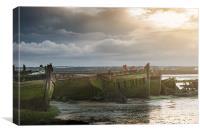 Medway Wrecks, Canvas Print