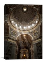 Sunlight in St Peters, Canvas Print