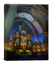 Montreal Cathedral interior, Canvas Print