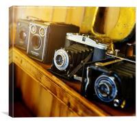 Vintage Cameras, Canvas Print