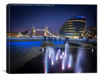 Tower Bridge and City Hall, Canvas Print