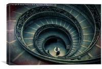 Vatican stairs, Canvas Print