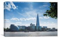 Thames City, Canvas Print