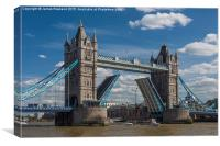 Tower Bridge Open, Canvas Print